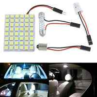 white 48 led 5050 smd car interior dome bulb light lamp t10 ba9s 3 adapters 12v ebay. Black Bedroom Furniture Sets. Home Design Ideas