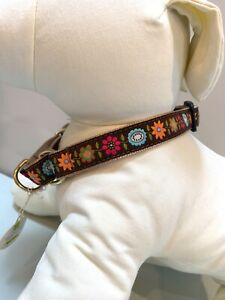 UpCountry Bella Floral Martingale Dog Pet Collar NWT L