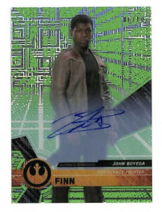 2017 Topps Star Wars High Tek John Boyega 6/10 green auto autograph card Finn