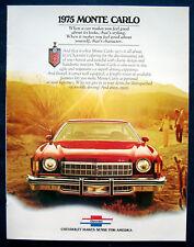 Prospekt brochure 1975 Chevrolet Chevy Monte Carlo (USA)
