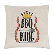 Barbecue King Lin Housse de coussin oreiller - Papa Drôle Père JOUR cuisinière