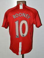 MANCHESTER UNITED 2007/2008 HOME FOOTBALL SHIRT NIKE ROONEY #10 SIZE L ADULT