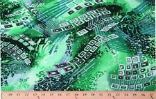 """Lycra Spandex Geometric Print with Sequins 56"""" Fabric Print by the Yard D454.08"""