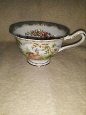 ROYAL ALBERT Chelsea Bird Bone China England Footed Teal Blue Tea Coffee Cup