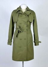 Military Industrial Style Army Green Officer Pea Coat Trench Jacket Womens 4