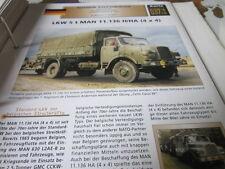 Archiv Militärfahrzeuge schwere Rad Kfz Deutschland 37.1 MAN 11.136 H7HA LKW 5t