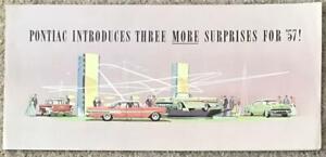 PONTIAC USA Car Sales Brochure 1957 BONNEVILLE Star Chief Safari LA PARISIENNE