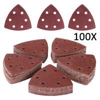100 St. Schleifdreiecke Dreieck Schleifpapier Schleifscheiben für Deltaschleifer