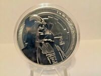 2017 1 oz. Silver New Zealand Niue Star Wars Darth Vader Coin With Capsule BU