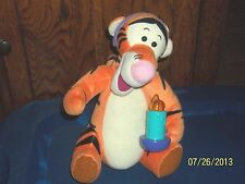 1998 MATTEL WINNIE THE POOH BEAR FRIEND TIGGER IN NIGHT CAP WITH CANDLE PLUSH