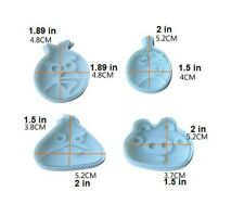 Angry Birds Ejector Plunger Cutters, Pastry & Sugarcraft, Set of 4, Fondant