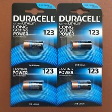 4 x Duracell Ultra CR123 CR123A 123 3V Lithium Photo Camera Battery Expiry 2026