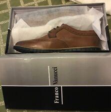 Men's Franco Vanucci Shoes Alfonso Wingtip Oxford Sz 11.5 Brown NEW