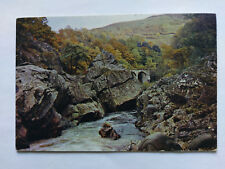 Pass of Killiecrankie Perthshire Vintage colour Postcard c1970s Soldier's Leap