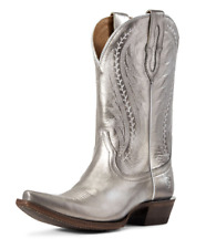 WOMEN'S ARIAT TAILGATE WESTERN BOOTS IN METALLIC SILVER 10029675