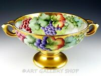 Antique Rosenthal Empire HANDPAINTED GRAPES GOLD CENTERPIECE BOWL Artist Signed