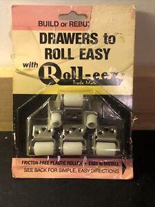 1 Package Vintage Roll-eez  Roller Bearings for Rebuilding Cabinet Drawers NEW