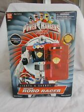 POWER RANGERS TURBO DELUXE ROBO RACER Light/Sound! 1997 RARE!100% w/BOX EUC-W0W!