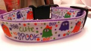 Halloween Dog Collar Too Cute to Spook adjustable nylon