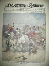 ALTARE ACCIDENT AUTOMOBILE MELUN COLLISION TRAINS LA DOMENICA DEL CORRIERE 1913