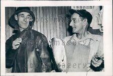 1945 Fishing Schooner Lady of Good Voyage Crew View Fresh Fish Press Photo