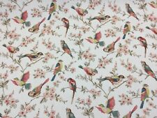 Cath Kidston British Birds Pastel Cotton Fabric For Curtains/Upholstery/Craft.