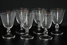 Série de 6 verres à eau n°2 cristal de Daum modèle Orval