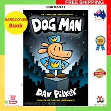 DOG MAN #1 - Dav Pilkey   HARDCOVER BOOK   BRAND NEW   FREE SHIPPING AU