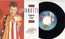 LORENZO JOVANOTTI disco 45 GIMME FIVE REMIX made in HOLLAND 1989 stampa OLANDESE