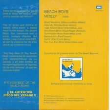 "THE BEACH BOYS ""MEDLEY"" RARE SPANISH PROMO CD SINGLE / BRIAN WILSON - MIKE LOVE"