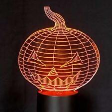 3D Optical Illusion LED Touch Change Colour Pumpkin Night Light for Kids Adults