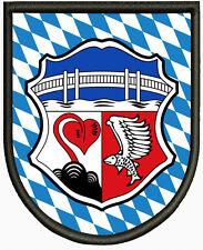 Wappen von Seeon-Seebruck  Aufnäher ,Patch Pin, Aufbügler