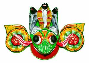 Sri Lankan Handmade Wood Wall Hanging Traditional Small Mask (Gara Raksha)