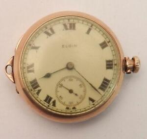 1915 Elgin Ladies Pocket Watch Model 2 in 10K Gold Filled Case 0 Size 15 Jewels