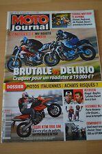 MOTO JOURNAL N°1793 MV AGUSTA BRUTALE 910 R, LAURRY FREMY, KTM 990 SM SUPERMOTO