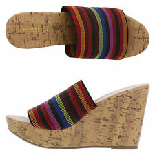 new Womens Shoes size 13 O'Malley High-Wedge Slide cork look multi