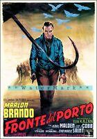 On The Waterfront 1954 Marlon Brando Vintage Poster Print Classic Retro Film