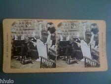 STB952 Scene de genre le voleur surpris stereoview photo STEREO 1900