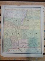 Nice colored map of New Mexico or Colorado.  Cram's Atlas of the World.