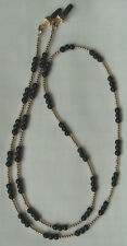Eyeglass Chain Holder Onyx & Gold (2886)