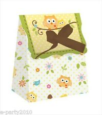 HAPPI TREE OWL SMALL FAVOR BAGS (12) ~ Baby Shower Party Supplies Paper Treat
