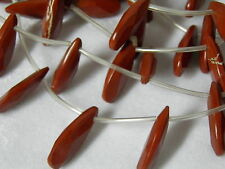 23x10mm Red Jasper Faceted Flat Teardrop Pendant Beads 15 Pieces Strand R30