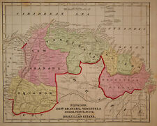 1856 Genuine Antique map of northern South America. C. Morse