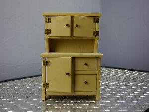 Vintage Handmade Doll Furniture Kitchen Cabinet