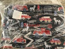 Pottery Barn Kids Mackenzie Wet Dry Pouch Bag Firetrucks Mono Bennett NEW