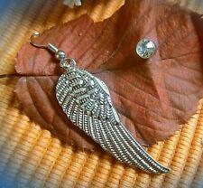 anmutiges paar ohrringe engels flügel und stecker mit steinchen edelstahl s925
