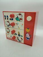 Vintage 1976 Sanrio Hello Kitty Mini Jewelry Box Chest Accessory Case Japan Toy
