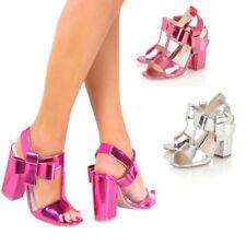 Decolté e sabot da donna cinturini, cinturini alla caviglia rose in pelle sintetica