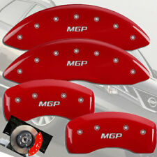 """2013-2020 Pathfinder Front + Rear Red """"MGP"""" Brake Disc Caliper Covers 4pc Set"""