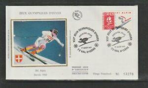 France 1991 SG2962 Yvert2710 FDC (Val D'Isere) Winter Olympics (Albertville)-Dow